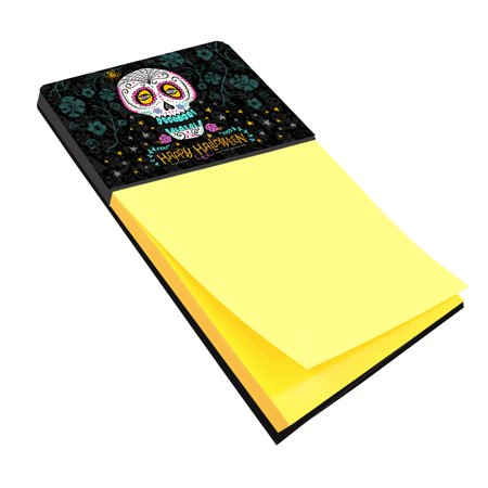 Happy Halloween Day of the Dead Sticky Note Holder](Happy Halloween Music Notes)
