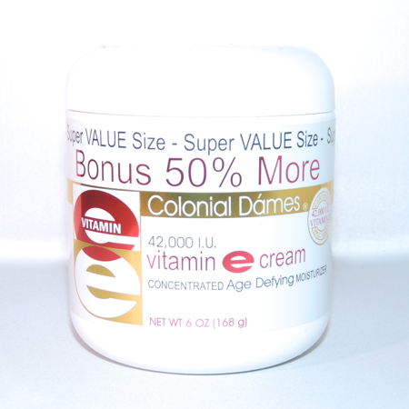 Colonial Dames Vitamin E Cream 6 ounce 42000 IU (3.53 Ounce Cream)