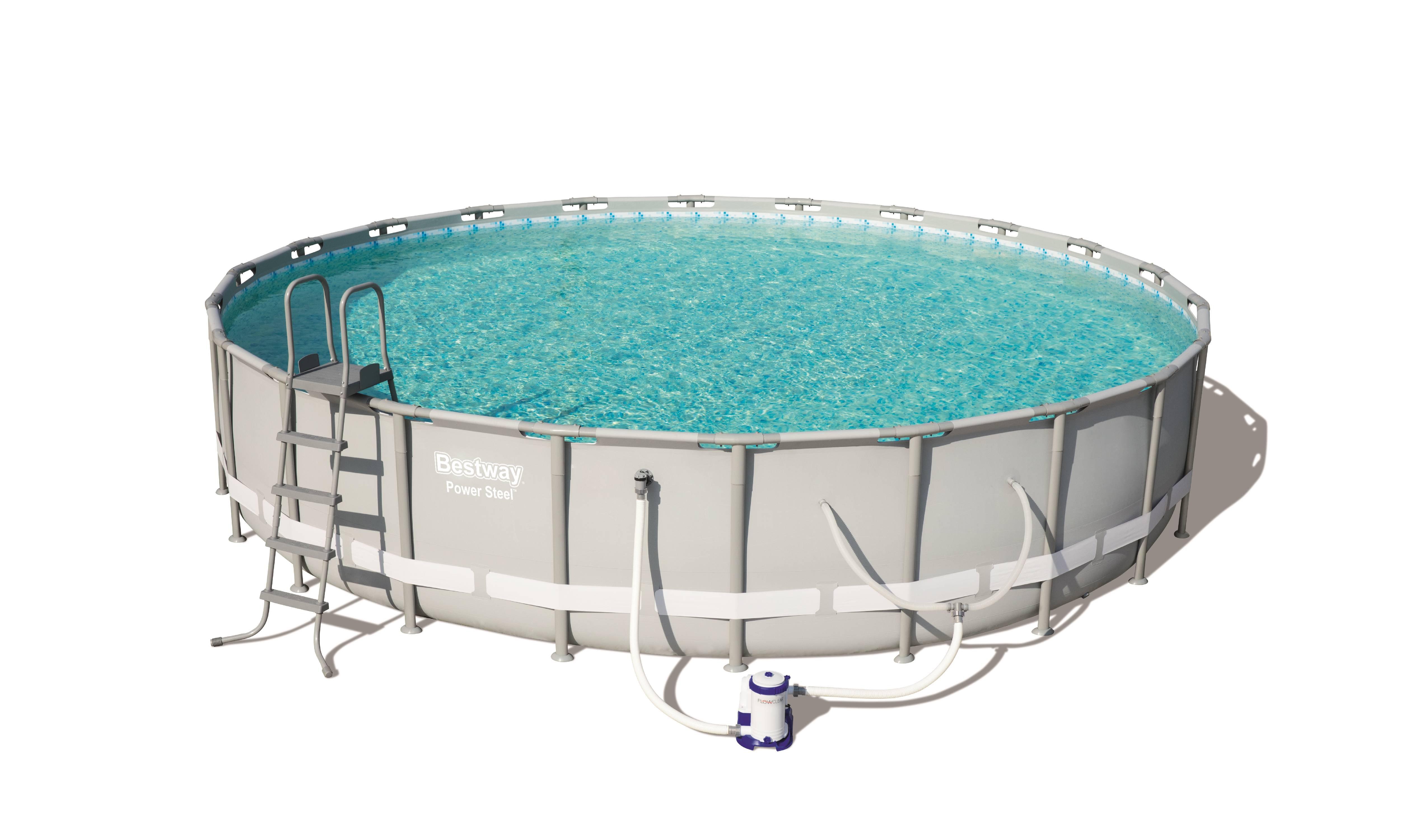 Bestway Power Steel 24 X 52 Frame Swimming Pool Set With Pump