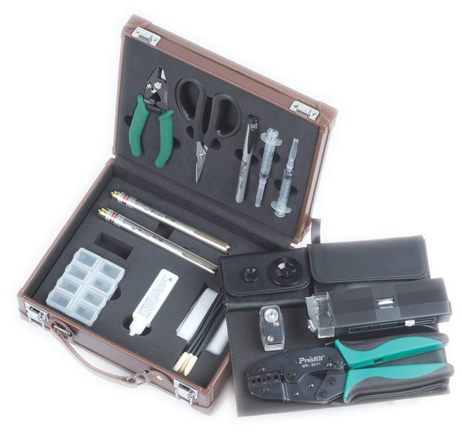 Eclipse Tools PK-6940 Fiber Optic tool Kit with 2.5mm and 1.25mm VFL's
