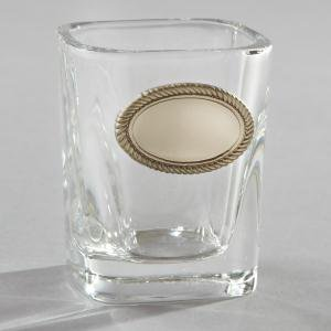 Elegance Shot Glass with Engravable Pewter Plate (2oz)