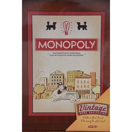 Monopoly Vintage Game Collection, Box book has rounded edges By Parker (Monopoly Property Trading Game From Parker Brothers)