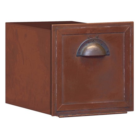 Brass Accents Mailbox (Salsbury Antique Brass Column)