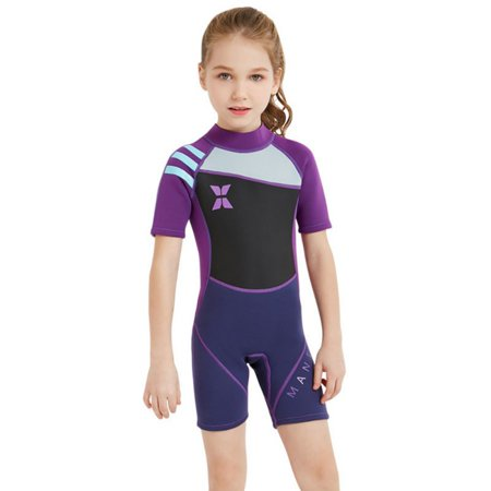f1bb83ce57f Fymall - Kids 2mm Thermal Swimsuit Teen One Piece Short Sleeve Wetsuit -  Walmart.com