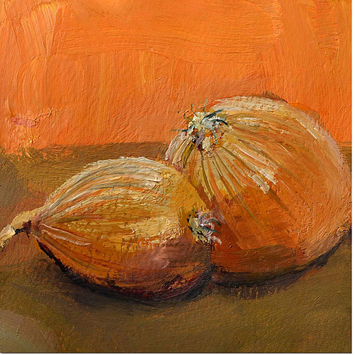 "Trademark Fine Art ""Yellow Onions"" Canvas Art by Michelle Calkins"