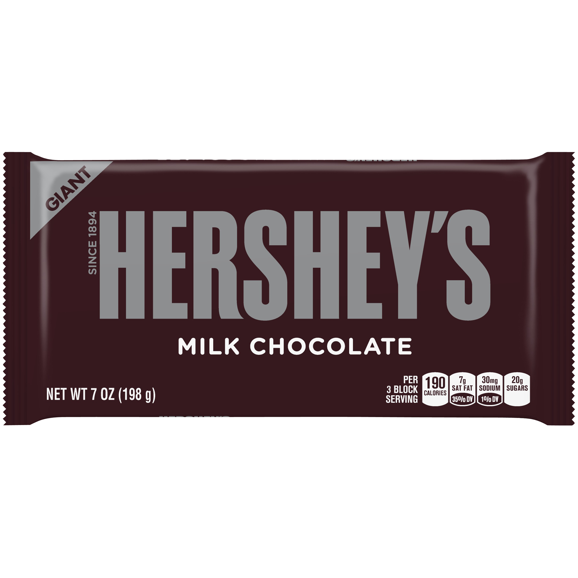 HERSHEY'S Giant Milk Chocolate Bar, 7 oz by The Hershey Company