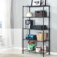 Ktaxon Wire 5 Tier Shelving Units Storage Rack Supreme Shelving Organization, Black