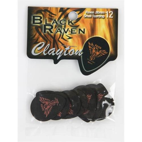 Clayton BJD Raven 6 Gauges 18 Composition guitar Picks, Black 432 Pieces by Clayton