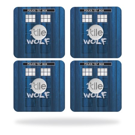Shop Tile Box - Skin Decal Wrap for Tile Slim Key Finder (4 pack) Time Lord Box
