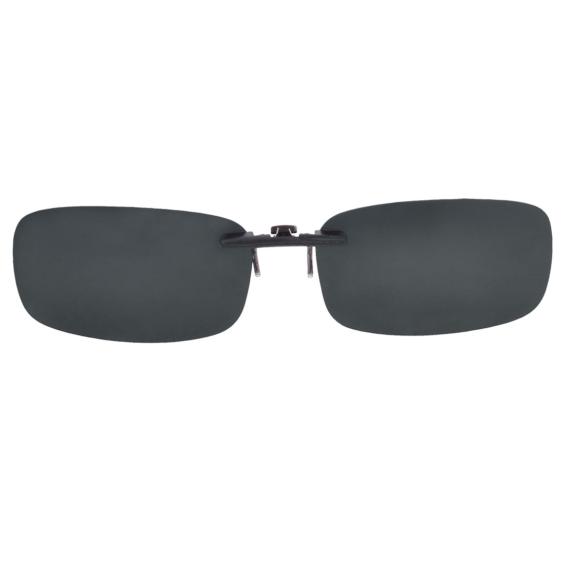 Polarised Clip on Sunglasses Glasses Large Grey