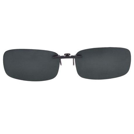 Polarised Clip on Sunglasses Glasses Large Grey 0V3S4fAa