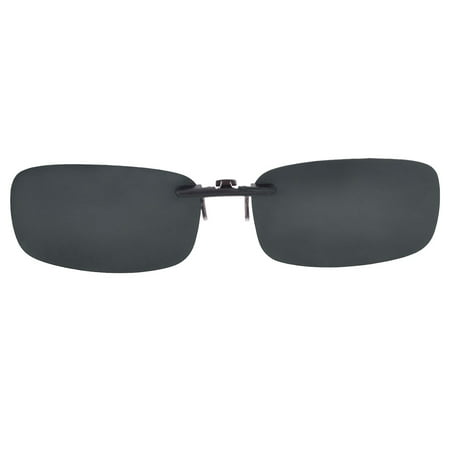2138ee322ee Black Sunglasses Polarized Lens Clip On Regular Eyewear Glasses for Men  Women - image 1 of ...