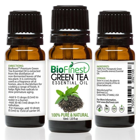 BioFinest Green Tea Oil - 100% Pure Green Tea Essential Oil - Premium Organic - Therapeutic Grade - Best For Aromatherapy - Boost Fat Burning - Anti-oxidant - FREE E-Book (Best Fat Burning Solutions)