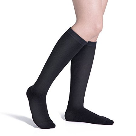 Fytto 4080 Compression Socks Graduated 15 20mmhg Support Hosiery For Varicose Veins Improves Circulation Reduces Swelling And Energizes Legs Knee High Unisex Black Xx Large Walmart Canada