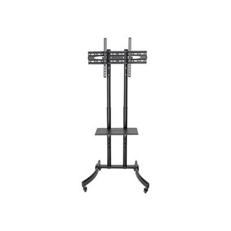 32-70 in. Mobile TV Floor Stand Cart Height-Adjustable LCD - Dual Pole Floor Stand Display