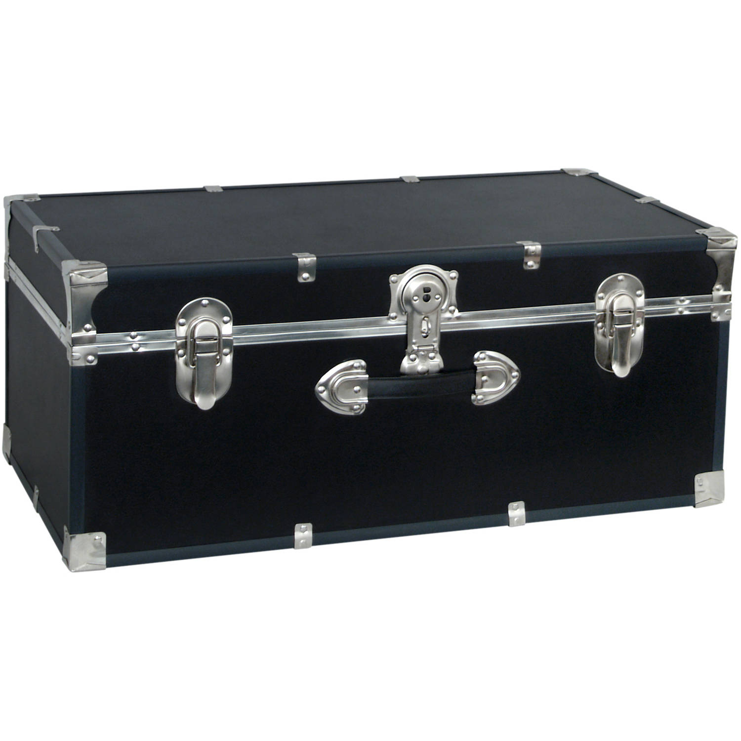 "Seward™ Collegiate Collection Footlocker Trunk, 30"", Black"