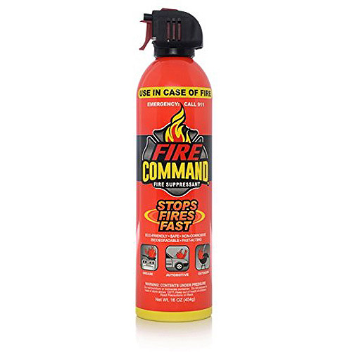 Kittrich Fire Command Fire Suppressant 16-Ounce Cans, 2-Pack