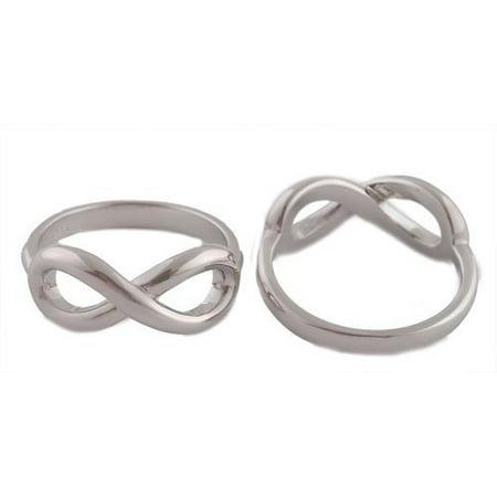 Ladies 925 Sterling Silver Figure 8 Infinity Ring Sizes 6-7 (6).. 925 Sterling Silver Figure