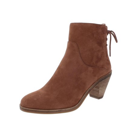 Lucky Brand Womens Jalie Leather Cone Heel Booties