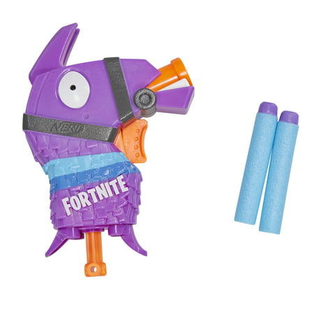 Nerf Fortnite Llama Nerf MicroShots Dart-Firing Toy Blaster and 2 Official Nerf Elite (Best Nerf Gift For A 7 Year Old Boys)