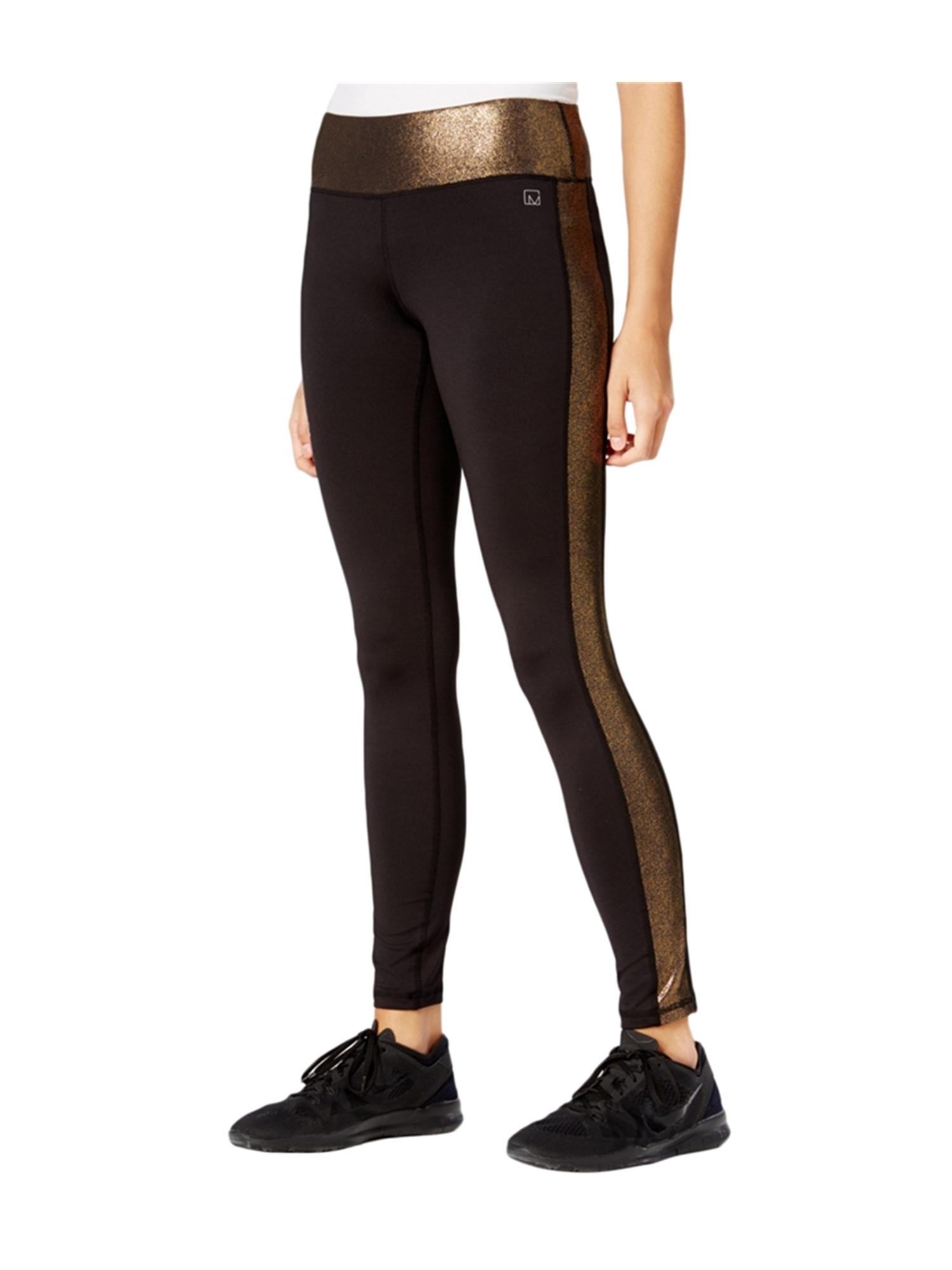 Material Girl Womens Metallic Striped Casual Leggings noir XS/28 - Juniors