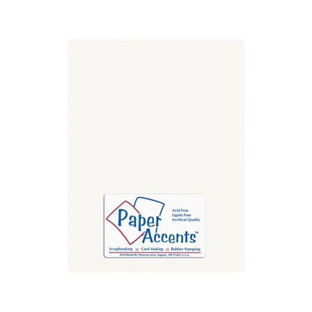 Cardstock Glossy 8.5x11 10pt White 25 Sheets