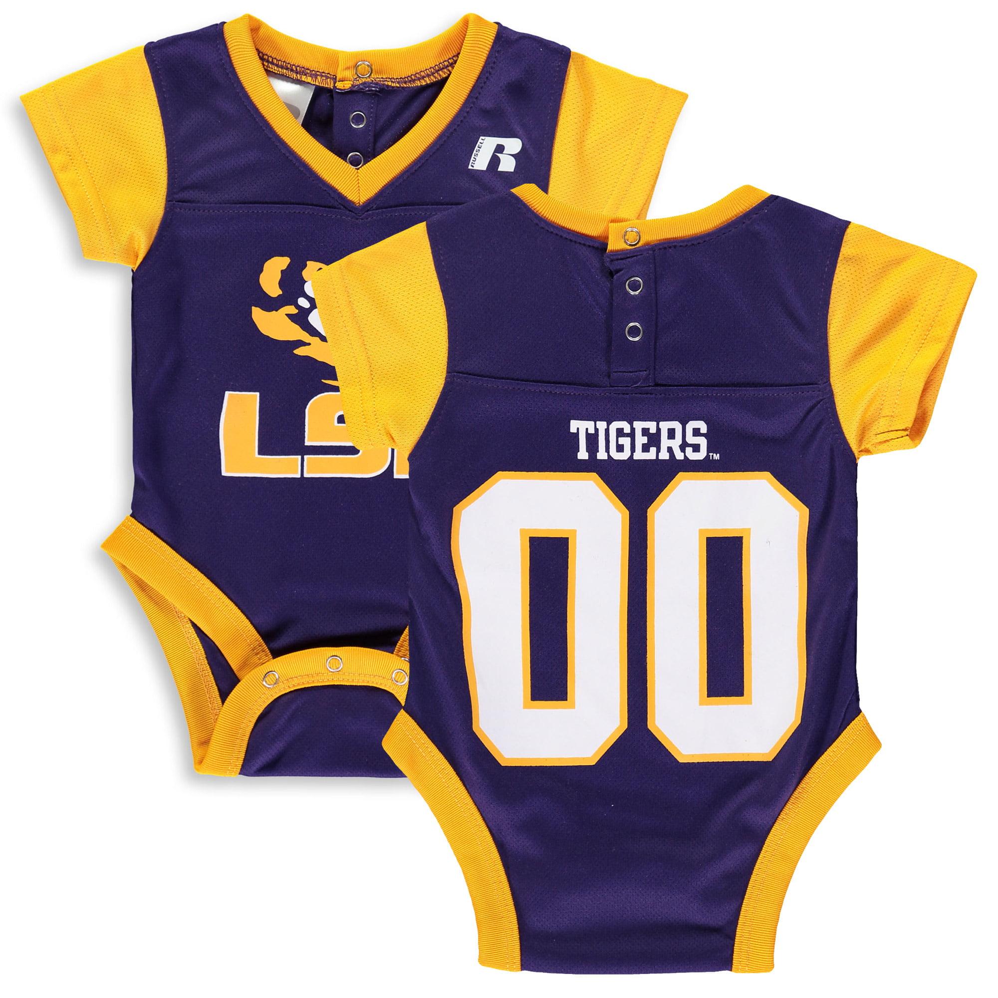 Newborn & Infant Russell Purple LSU Tigers Fashion Jersey Bodysuit