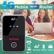 IEASUN Portable Wireless Router WiFi Bridge Travel Router Pocket Size Router, 4G LTE WiFi Router Mobile Broadband 150Mbps MiFi Wireless Hotspot