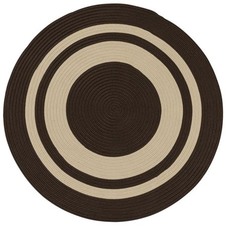 Colonial Mills Rug CN50R072X072 Coronado Round Braided Rug  Earth Brown - 6 ft. - image 1 of 1