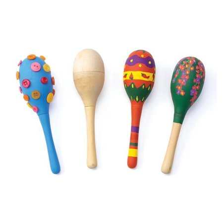 Colorations Decorate Your Own Wooden Maracas - Set of 12 (Item # MARACAS) - Wooden Maracas Wholesale