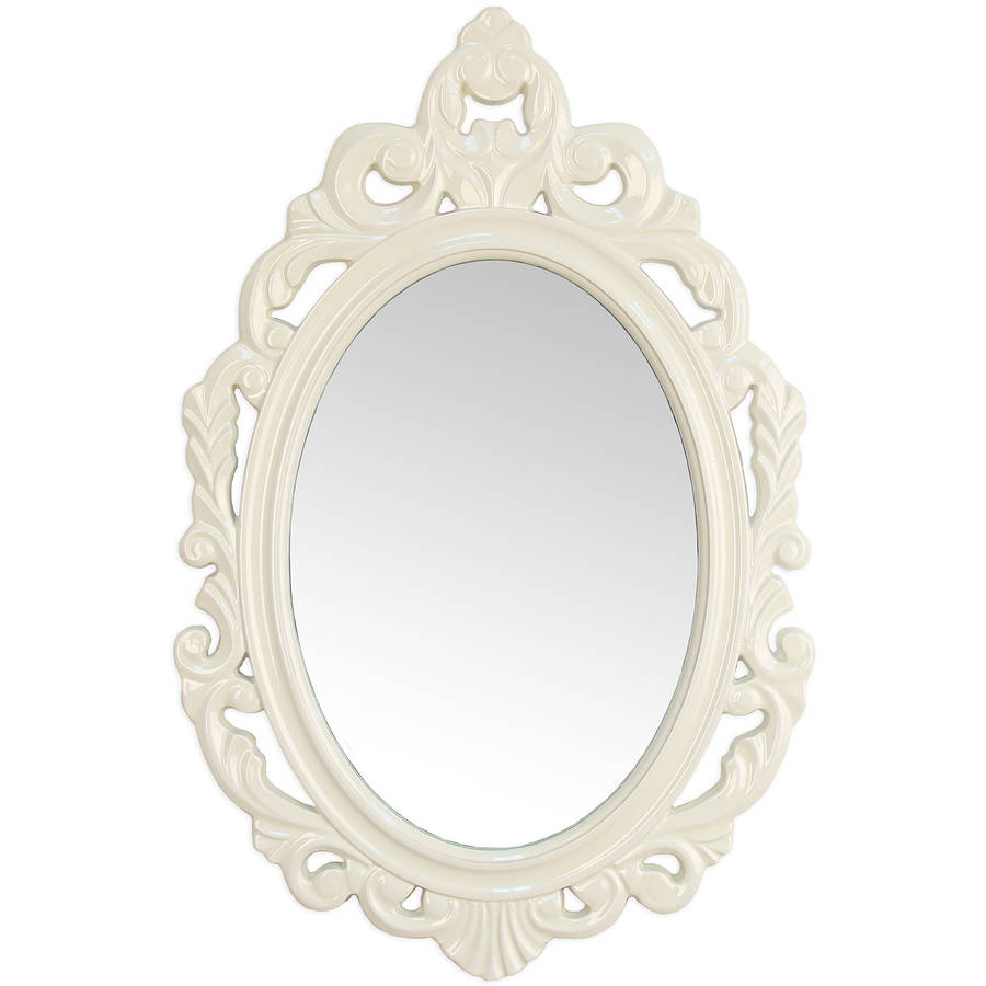 Stratton Home Decor Baroque White Wall Mirror by Overstock