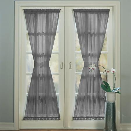 No. 918 Emily Sheer Voile Door Curtain Panel - Door Curtin