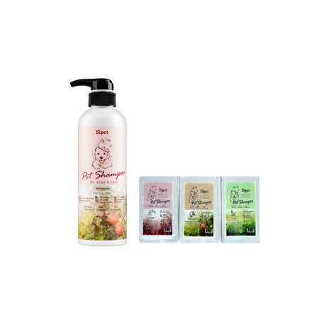 - Sipet 500 ml Pets Shampoo,Insect-Repellant, Mild and Allergy-Free, Healthy Hair, Dog & Cat Shampoo (Pomegranate) with One Extra Gift Other Random Type Bag 50ml Shampoo Made in Taiwan