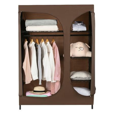 Langria 2 Door Compact Portable Zip Closet Extra Large Clothes Storage Wardrobe Organizational