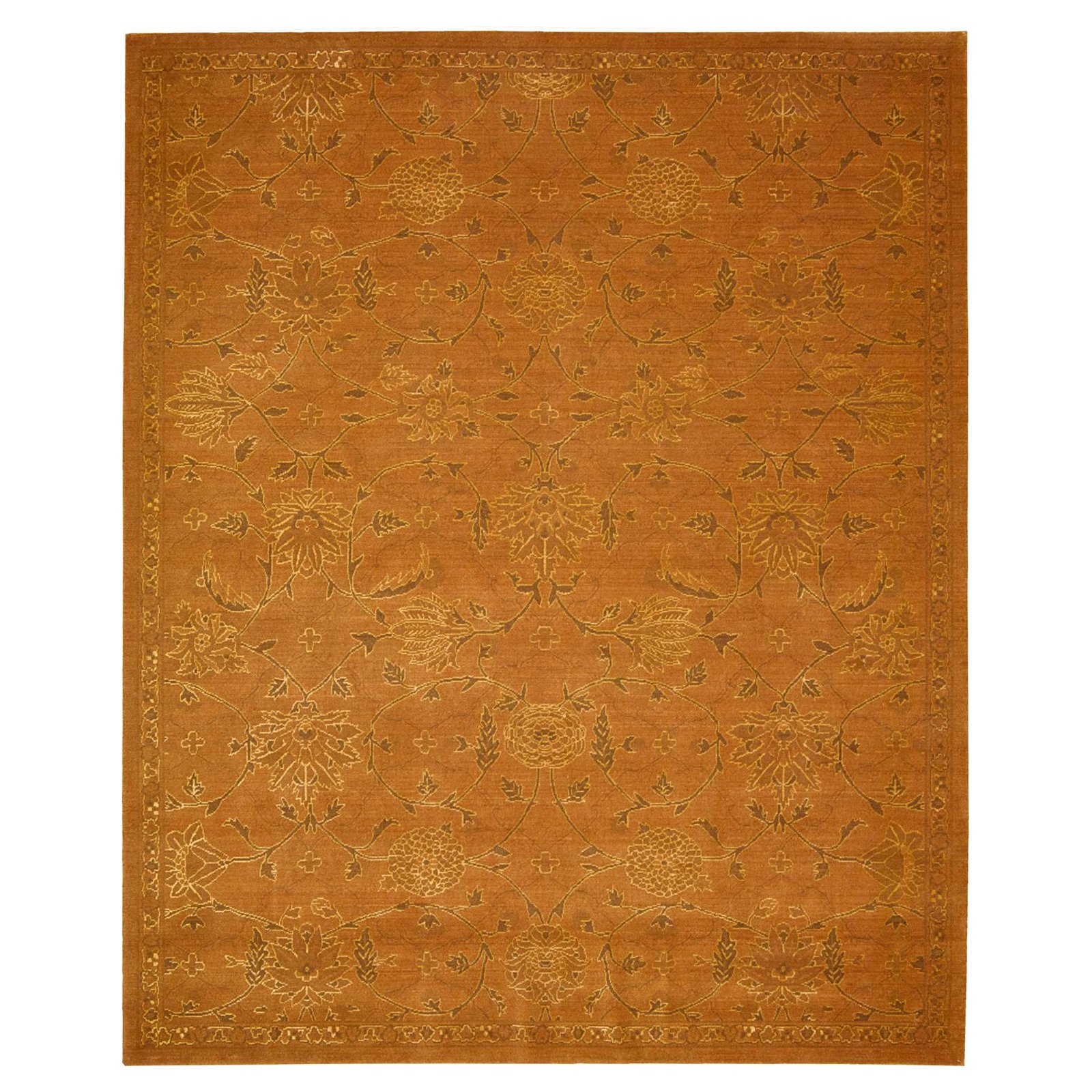 Nourison Silk Infusion SIF01 Indoor Area Rug - Copper - 7.75L x 9.75W ft.