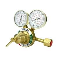 VICTOR Heavy Duty Oxygen Regulator Model: 350-125-540 - Delivery Rate: 5 - 125 psi - CGA-540 - Full Brass - Genuine Victor