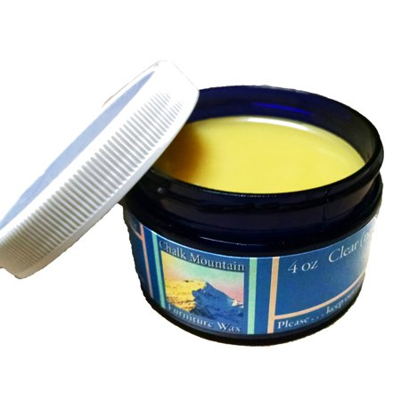 Chalk Mountain Brushes & Waxes - 4oz ALL NATURAL Clear Furniture Finishing Paste Wax