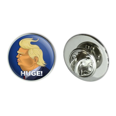 Huge! Donald Trump Caricature with Wind Blowing Hair Funny Metal 0.75