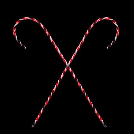set of 2 peppermint twist giant lighted candy cane pathway markers outdoor christmas decorations 60