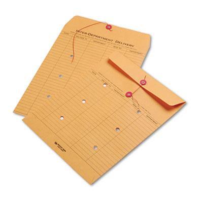 Quality Park Brown Kraft String & Button Interoffice Envelope ()