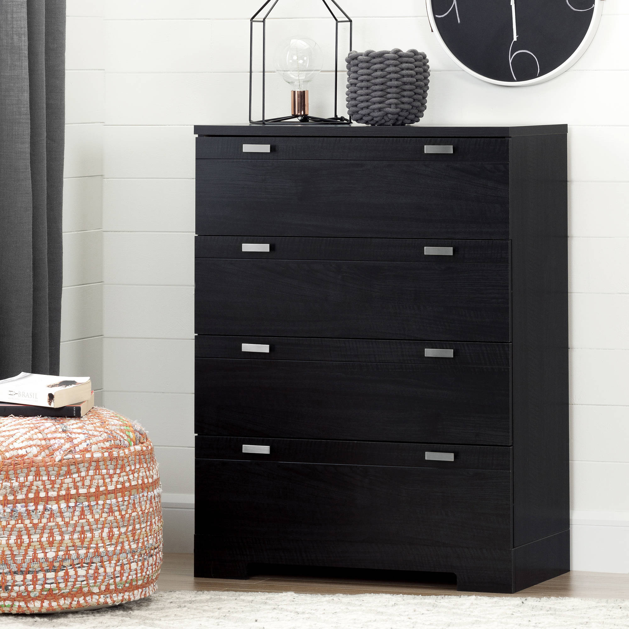 South Shore Reevo 4-Drawer Chest, Multiple Finishes
