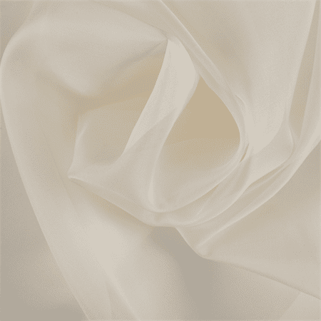 Pale Yellow Silk Organza, Fabric By the Yard