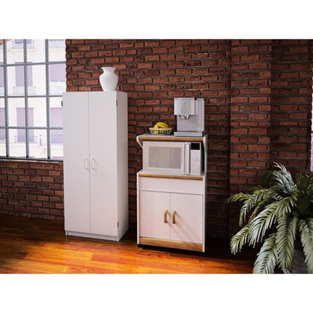 Double Pantry & Microwave Cabinet with Shelves Value Bundle