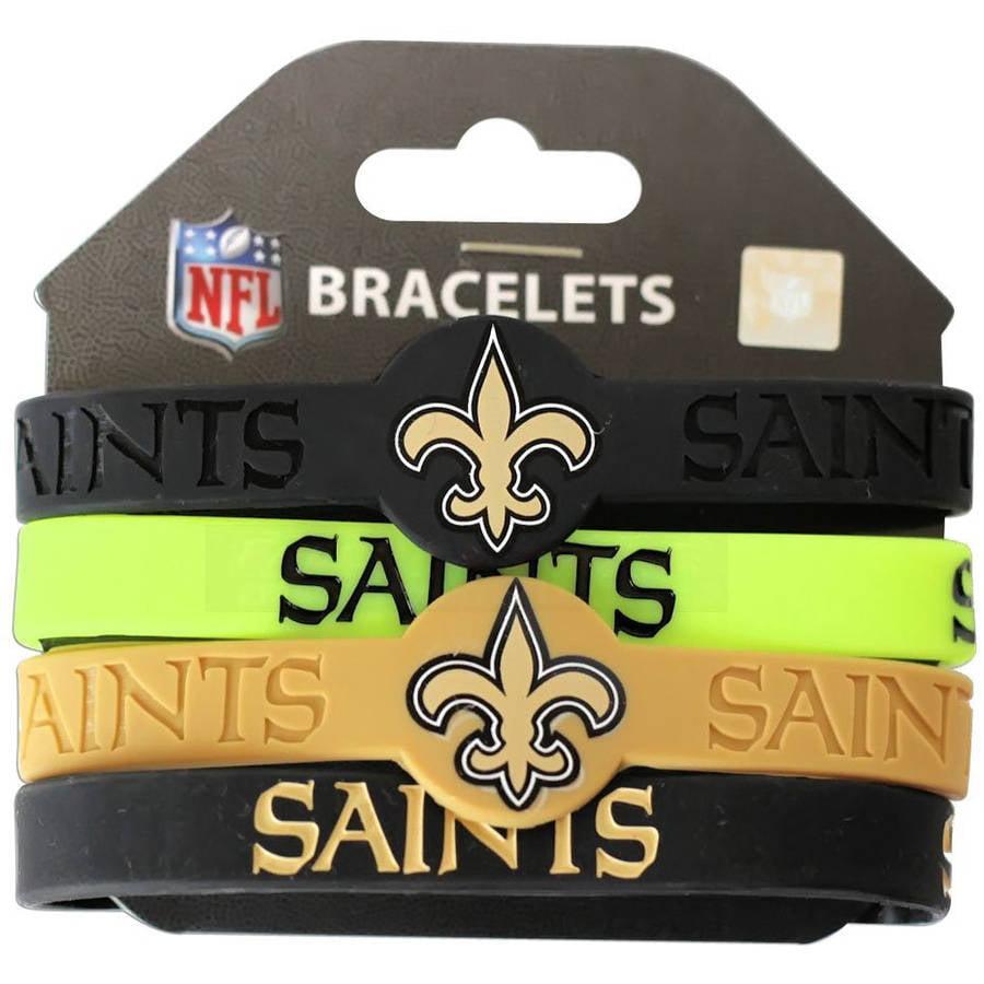 NFL New Orleans Saints Silicone Rubber Bracelet Set