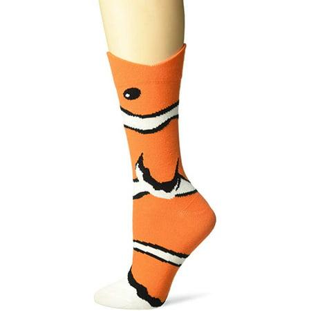 Women's Crew Socks - K Bell - Wide Mouth Clown Fish Orange (9-11)](Clown Mouth)