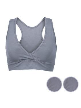 d4d1c09fd9206 Product Image HDE Women s Nursing Maternity Bra Seamless Sleep Bralette    Breastfeeding Pads