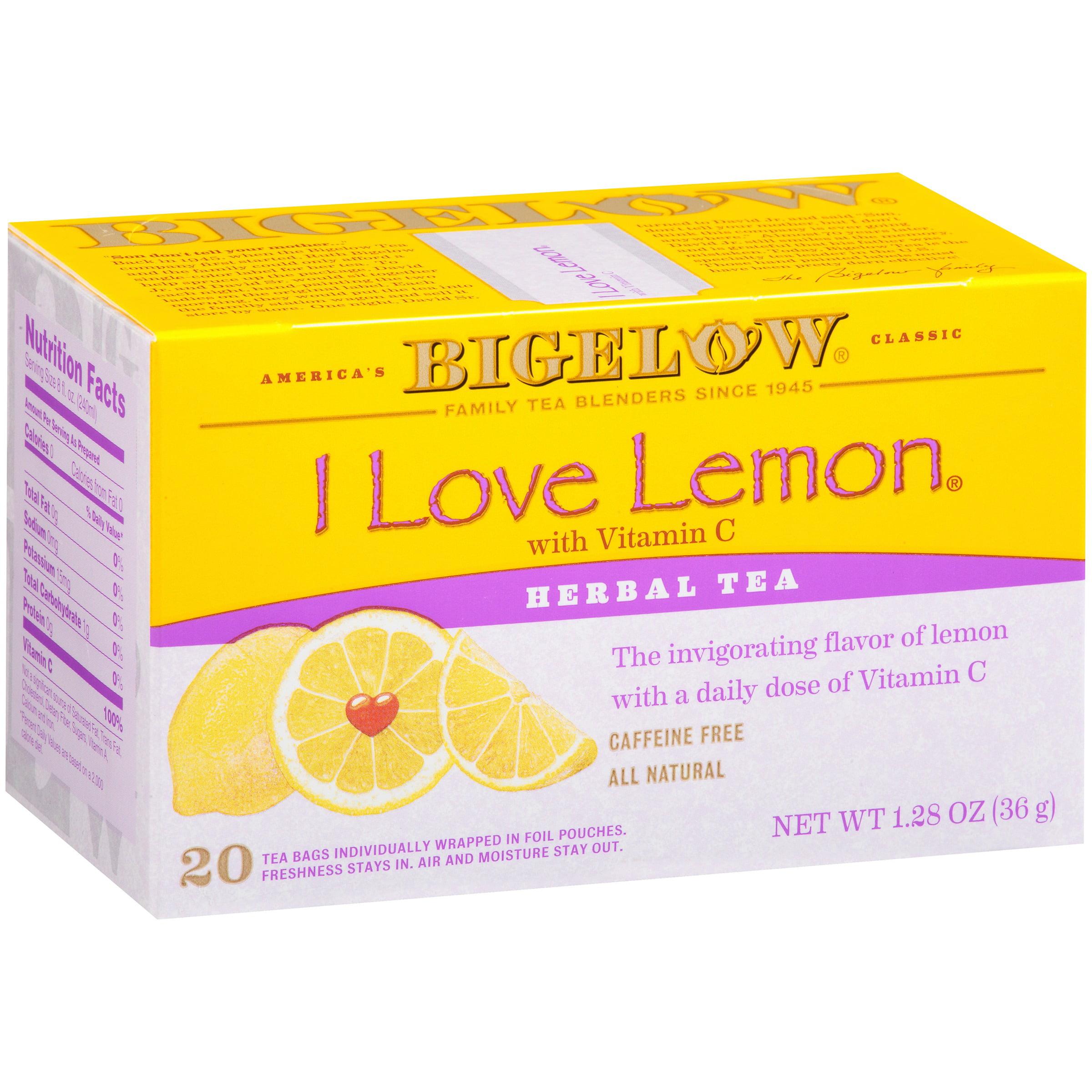 (3 Boxes) Bigelow® I Love Lemon® with Vitamin C Herbal Tea 1.28 oz. Box