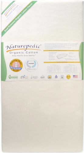 No-Compromise Organic Classic 150 Seamless 2-Stage Crib Mattress by Naturepedic Mattress