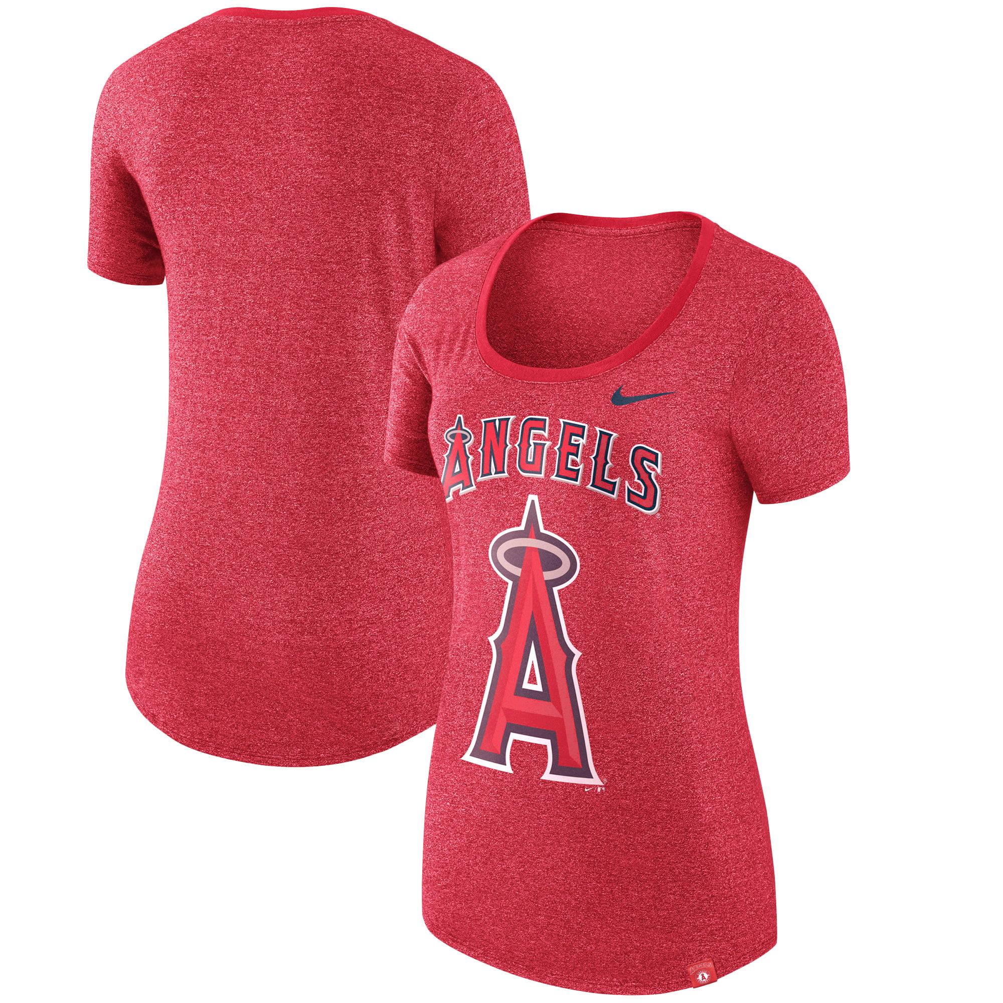 Los Angeles Angels Nike Women's Marled Boyfriend 1.7 T-Shirt - Heathered Red