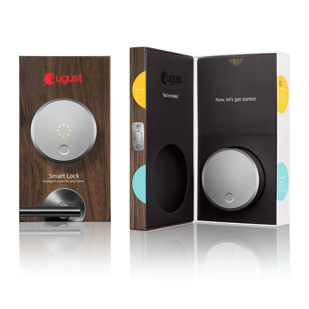 August Smart Lock - Keyless Home Entry with Your Smartphone, Red -  Walmart.com